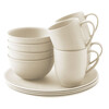 Outwell Bamboo Dinner Set 4 persons off-white